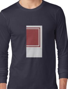 Glitch Homes Wallpaper red molding wall right Long Sleeve T-Shirt