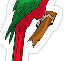 Red And Green Parrot Sticker