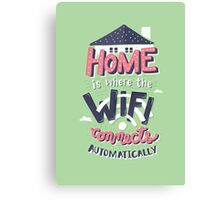 Home Wifi Canvas Print