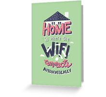 Home Wifi Greeting Card