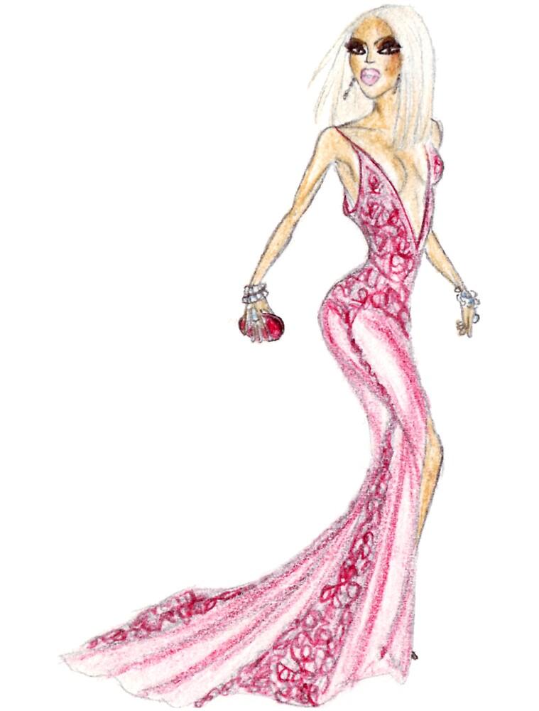 red dress by alexcity