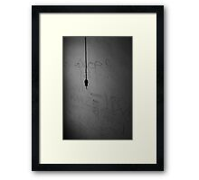 Lights Out. Framed Print