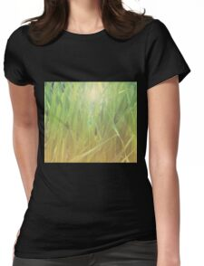 Abstract grass background 2 Womens Fitted T-Shirt