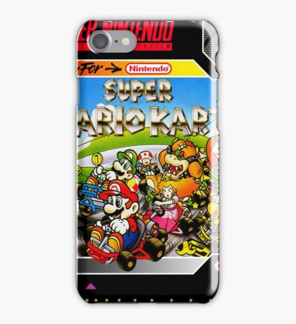 Super Mario Kart Super Nintendo Collection iPhone Case/Skin