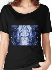 Blue Oil Gestalt Abstract I Women's Relaxed Fit T-Shirt