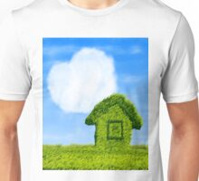 Eco house and cloud heart Unisex T-Shirt