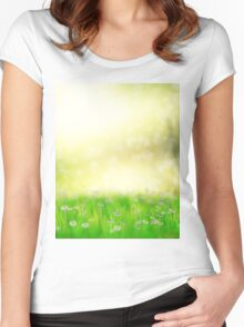 Field of daisies Women's Fitted Scoop T-Shirt