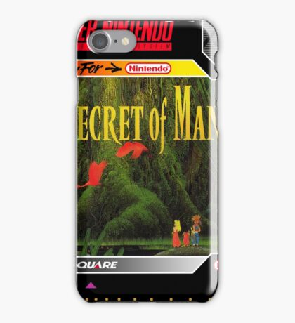 Secret of Mana Super Nintendo Collection iPhone Case/Skin
