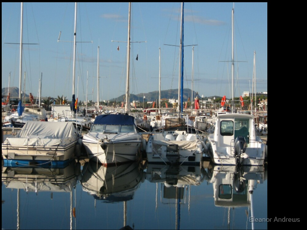 The Harbour- Port Pollenca 3 by Eleanor Andrews