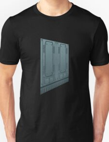 Glitch Homes Wallpaper spaceship left T-Shirt