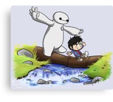 Hiro and Baymax Canvas Print