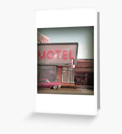 Cadillac Motel Greeting Card