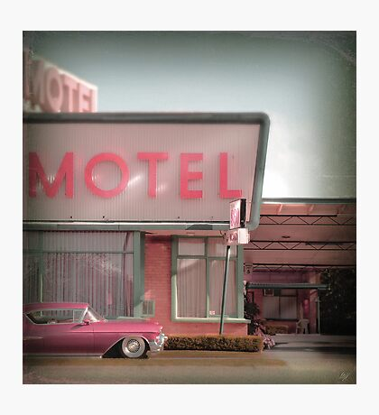 Cadillac Motel Photographic Print