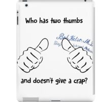 Kelso's Thumbs iPad Case/Skin