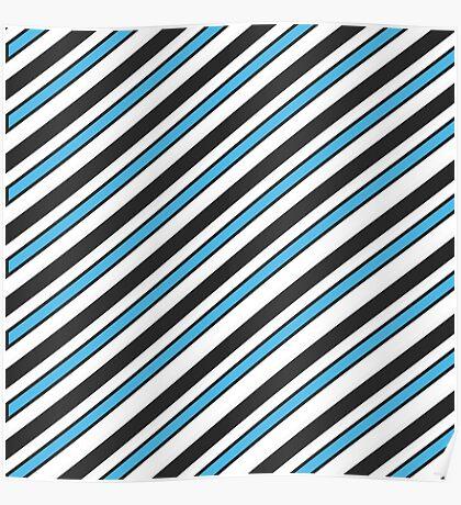 Team Colors 3...Light blue,black,white Poster