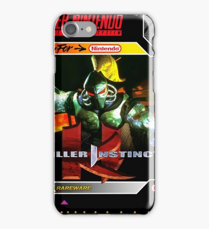 Killer Instinct Super Nintendo Collection iPhone Case/Skin