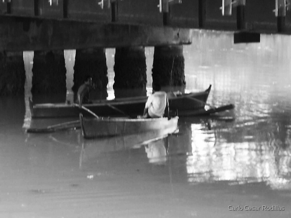 Boatmen Under the Bridge   by Carlo Cesar Rodillas