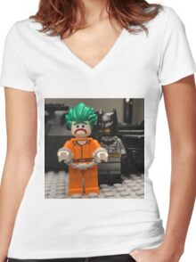 Back to Arkham Women's Fitted V-Neck T-Shirt
