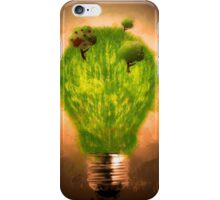 Green grass bulb iPhone Case/Skin