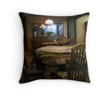 The face in the mirror.... Throw Pillow