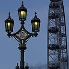 Light and London eye by alan tunnicliffe