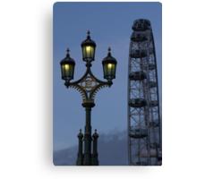 Light and London eye Canvas Print
