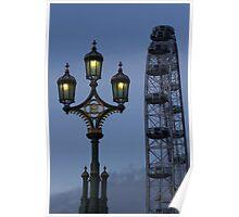 Light and London eye Poster