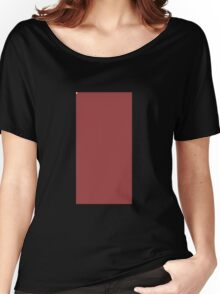 Glitch Homes Wallpaper spanishred stucco wall Women's Relaxed Fit T-Shirt