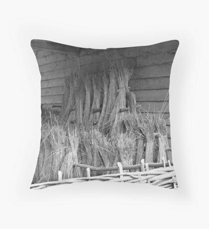 Harvest study - black & white Throw Pillow