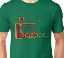 This is the one that says 'science', and has pictures of science, on a green background. Unisex T-Shirt