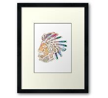 Mayan Chief Framed Print