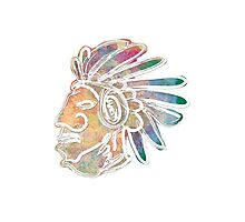 Mayan Chief Photographic Print