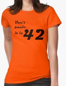 hitchhiker's guide to the galaxy Womens Fitted T-Shirt