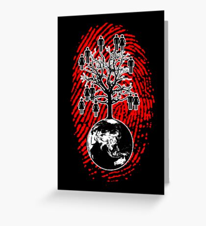 Family Tree - We are one human family. (Wall Art) Greeting Card