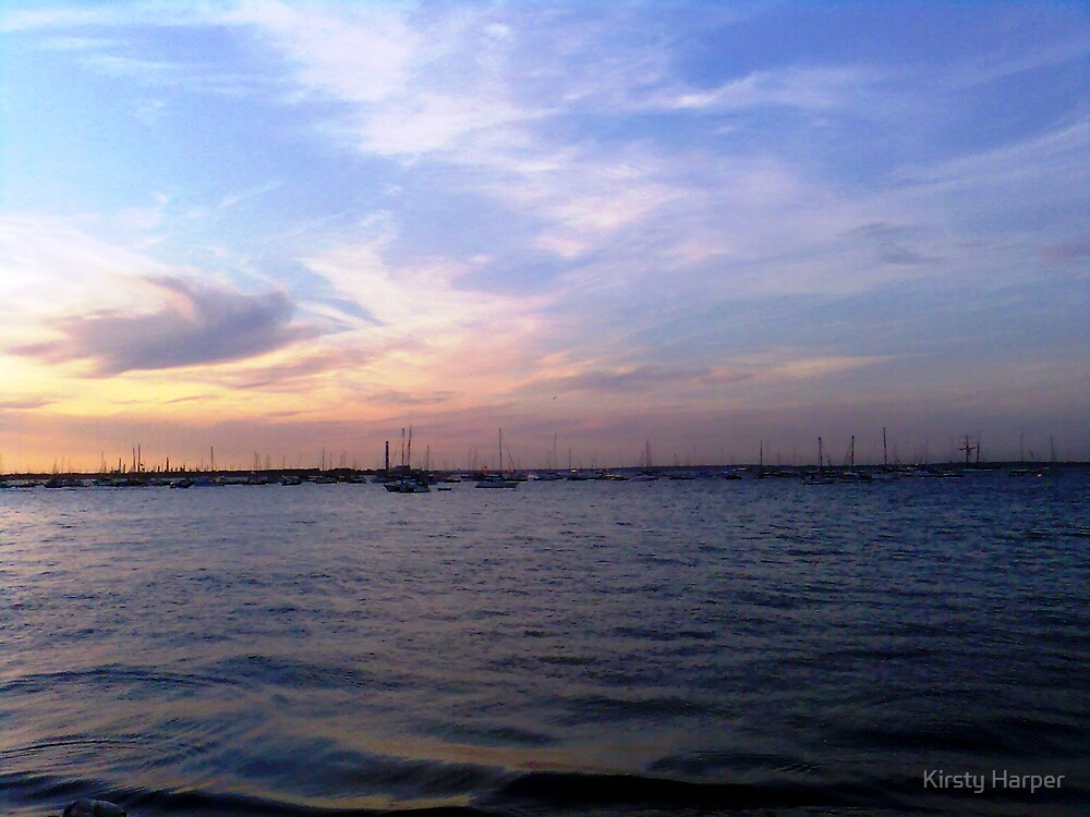 Yachts In The Evening by Kirsty Harper