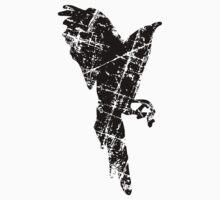 Raven, Crow Vintage Vertical One Piece - Short Sleeve