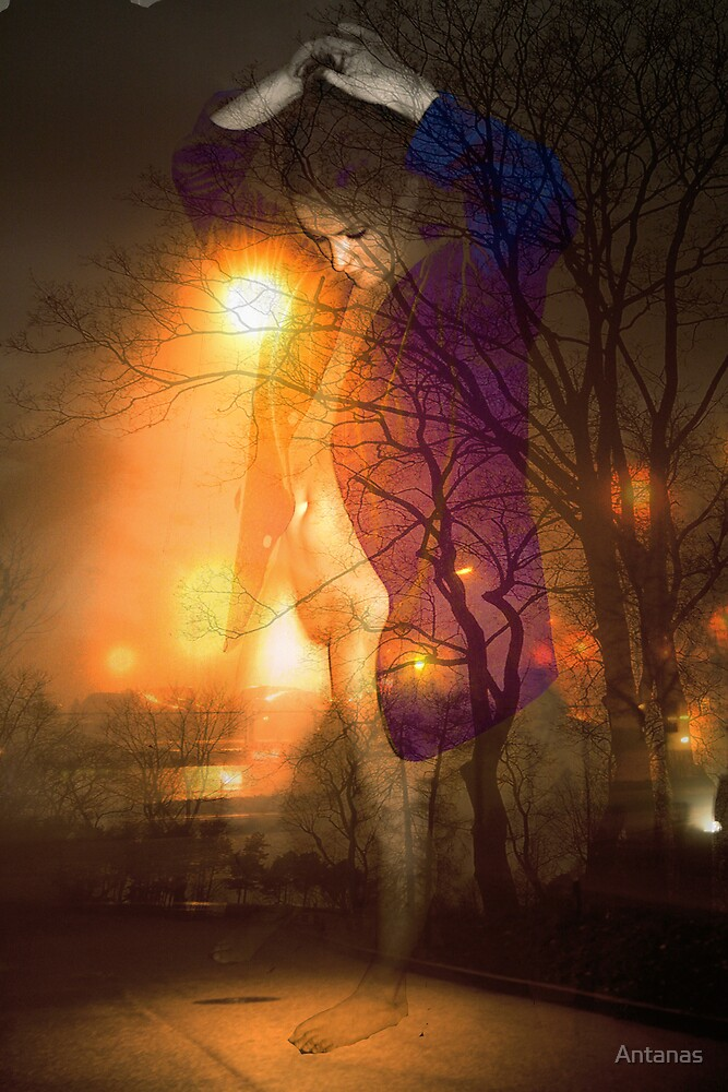 Fog at Night... by Antanas