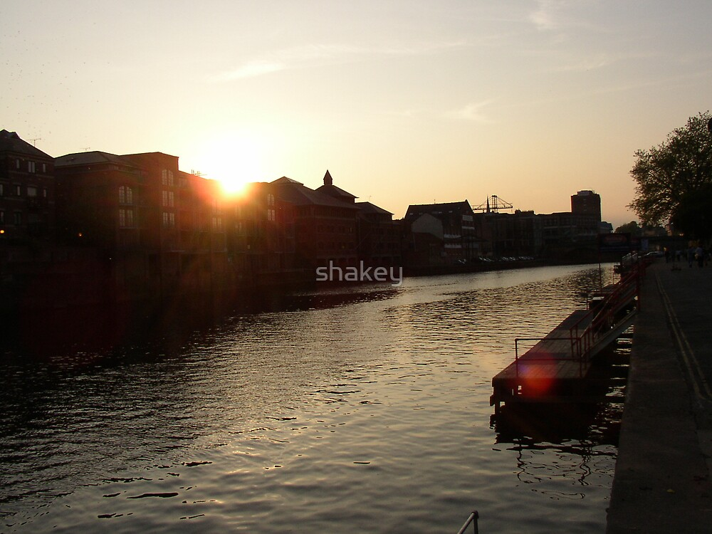 Ouse sunset by shakey