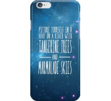 The Beatles -  Lucy in the Sky With Diamonds - Lyric Poster iPhone Case/Skin