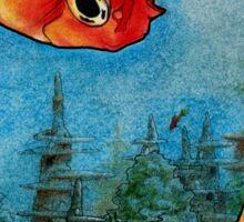 Welcome to Goldfish Atlantis Sticker