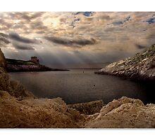 Xlendi Bay Dawn - Malta by RONALD BALZAN