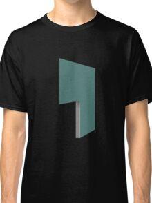 Glitch Homes Wallpaper tealgreen stucco left divide Classic T-Shirt