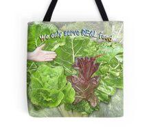 We Eat Real Food Tote Bag