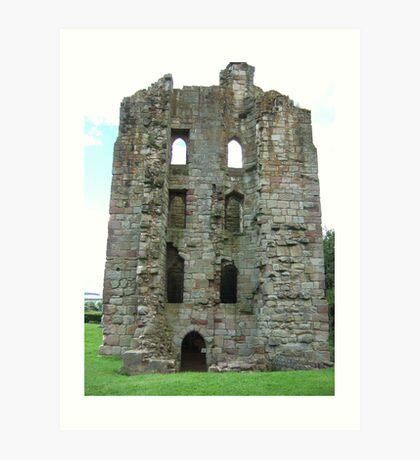 Etal Castle Art Print