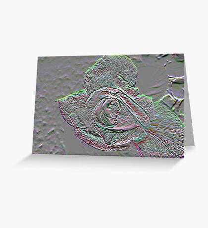 Rose Borealis Embossed Greeting Card