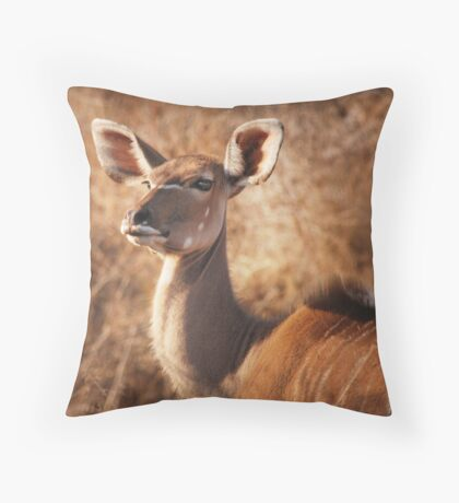 she proudly stands Throw Pillow