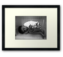 My Small World (Sleeping with a hungry stomach) Framed Print