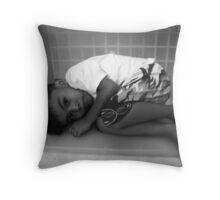 My Small World (Sleeping with a hungry stomach) Throw Pillow