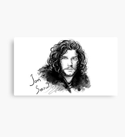 Jon Snow - Game of Thrones House Stark Canvas Print