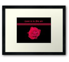 Rose Radtko - Love is in the air (I) Framed Print